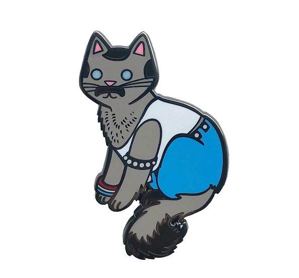 Freddie Purrcury Cat Enamel Pin By Danielle V Designs