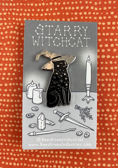 Starry Witchcat Enamel Pin By Bee's Knees