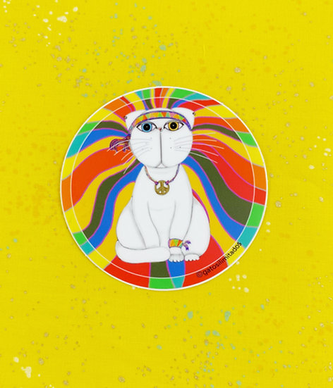 Paz y Amor Sticker By Gatos ilimitados