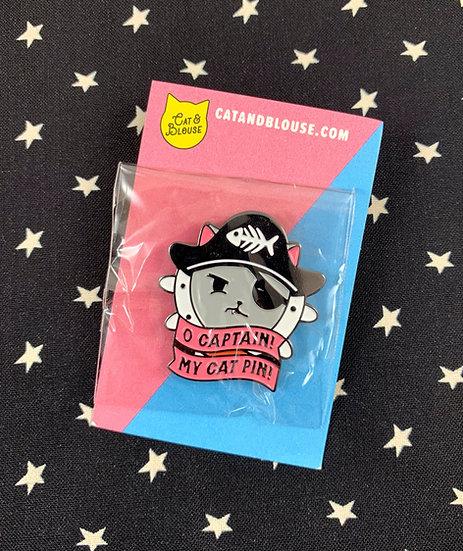O Captain! My Cat Pin! Enamel Pin By Cat And Blouse Studios