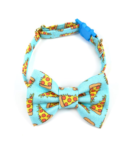 Pizza Bow Tie And Collar Set By Whiskers Crafts