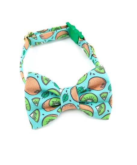 Kiwi Bow Tie And Collar Set By Whiskers Crafts