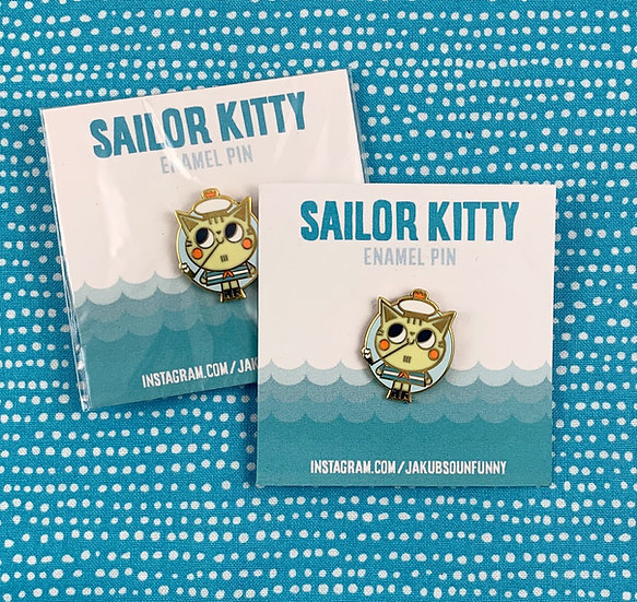 Sailor Cat Enamel Pin By SoUnfunny