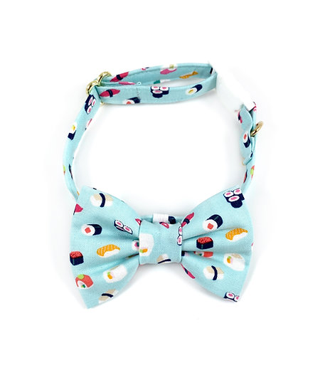 Sushi Bow Tie And Collar Set By Whiskers Crafts