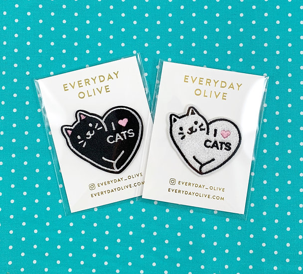 I Love Cats Patch By Everyday Olive