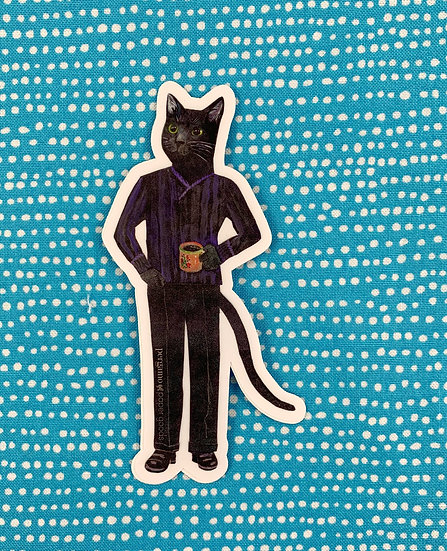 Coffee Cat Sticker By Pergamo Paper Goods