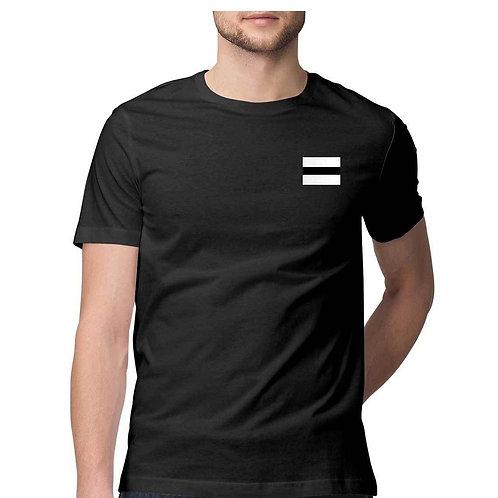 Equality Solid Black T-Shirt for Men