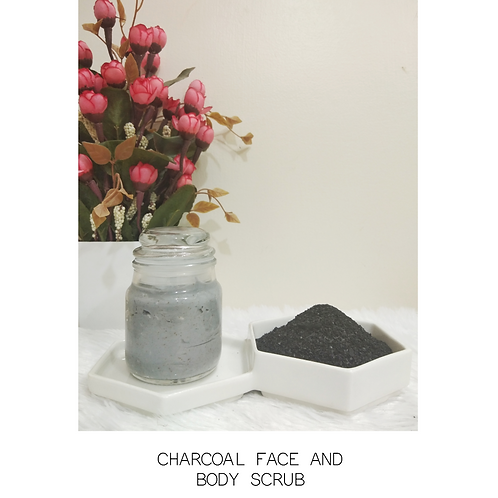 Charcoal Face and Body Scrub by The Tribe India