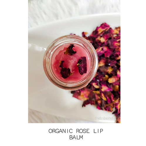 Organic Rose Lip Balm by The Tribe India