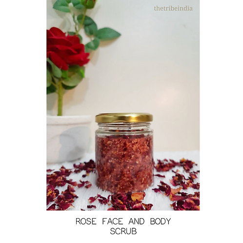 Rose Face and Body Scrubs