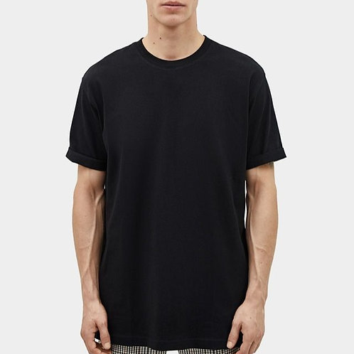 Solid Black Plain T-shirt for Men