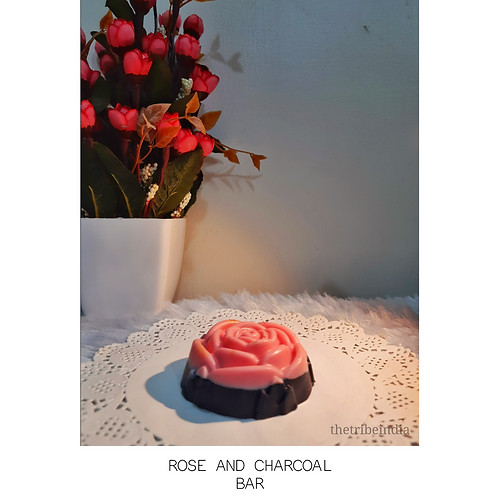 Rose & Charcoal Bathing Bar by The Tribe India