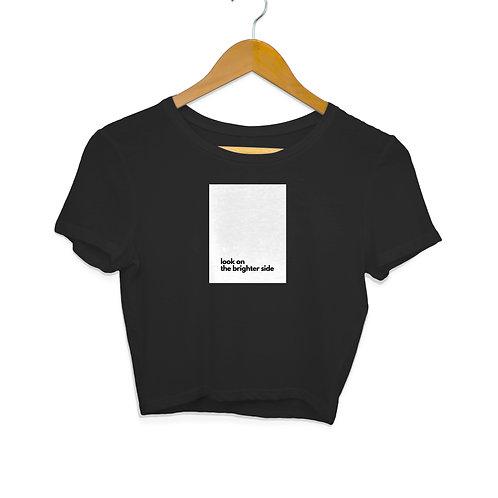 Brighter Side Black Crop Top for Women