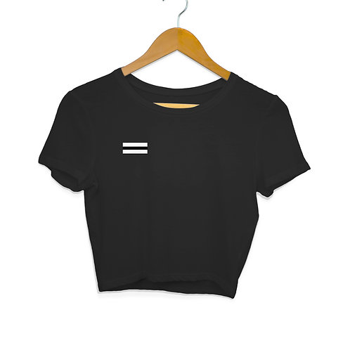 Equality Black Crop For Women