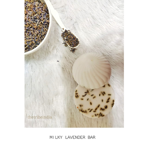Milky Lavender Bathing Bar by The Tribe India