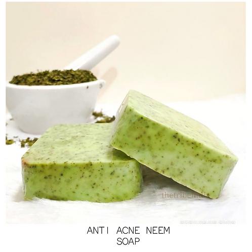 Set of Pure Organic Anti Acne Neem Soap + Sandal Saffron and Rice Soap