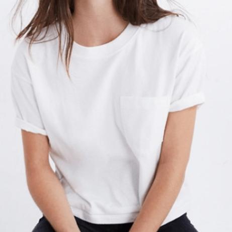 Solid  WhitePlain T-shirt for Women