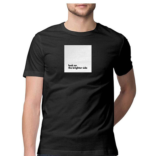 Brighter Side Black T-shirt for Men