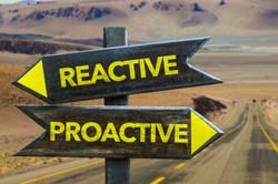 Reactive - Proactive crossroad in a dese