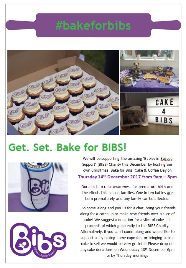 Bake for Bibs Christmas Fundraiser