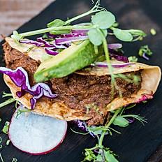 Tacos de Chilorio con Frijol