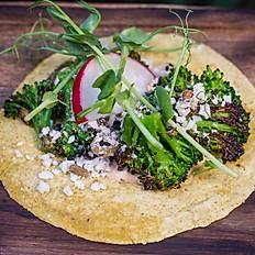"""Tacos de Brocoli al """"MiBrasa"""""""