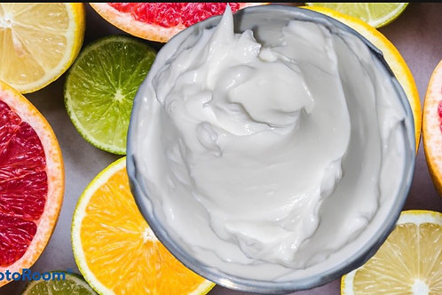 Organic Citrus Body Butter w Whipped Raw Shea and Manuka Honey | Vegan, Non GMO