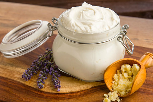 Organic Lavender Body Butter w Whipped Raw Shea and Manuka Honey | Non GMO