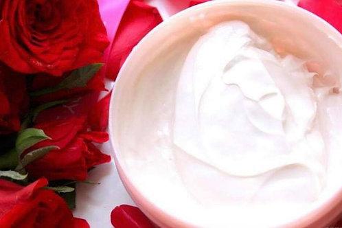 Organic Rose Body Butter w Whipped Raw Shea and Manuka Honey | Vegan, Non GMO
