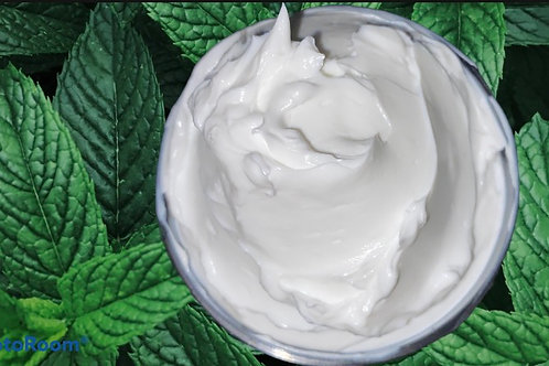 Organic Peppermint Body Butter w Whipped Raw Shea and Manuka Honey |  Non GMO