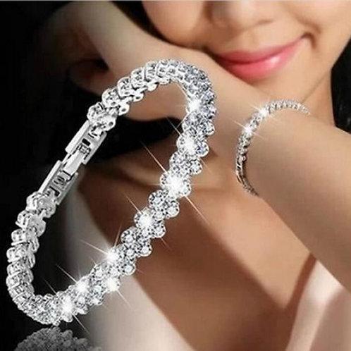 Rhine Stone Inlaid Bracelet