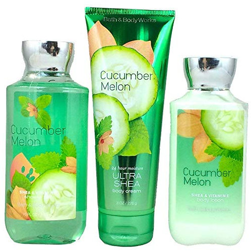 Bath & Body Works Signature Collection Cucumber Melon Gift Set ~ Body Cream ~ Sh