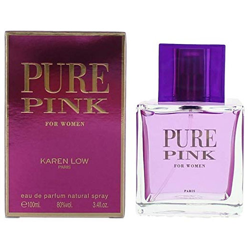 Karen Low Pure Pink Eau de Parfum Spray for Women, 3.4 Ounce  by Karen