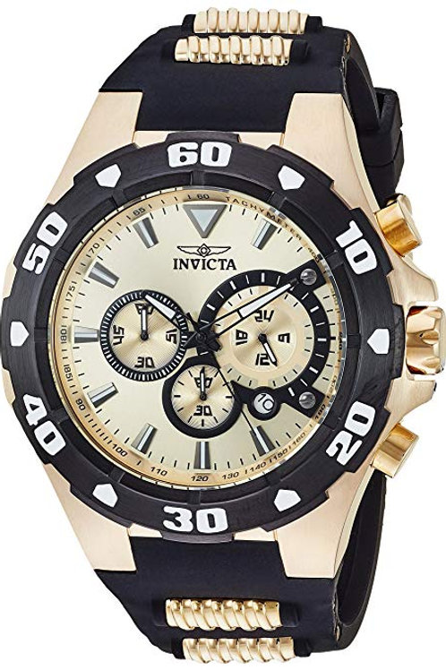 Invicta Men's Pro Diver Stainless Steel Quartz Watch with Silicone Strap, Two To