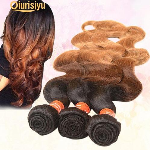 Bunch of hair 1 bundle long brazilian virgin body wave human ombre weft hair ext