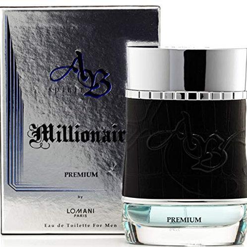 Ab Spirit Millionaire Premium Eau de Toilette Spray for Men by Lomani 3.4