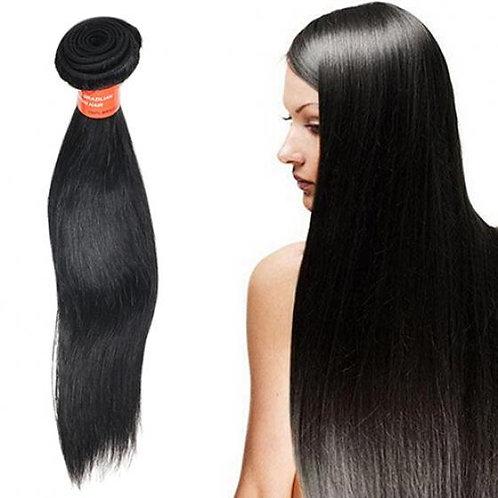 1 BUNCH OF BLACK STRAIGHT VIRGIN HUMAN HAIR
