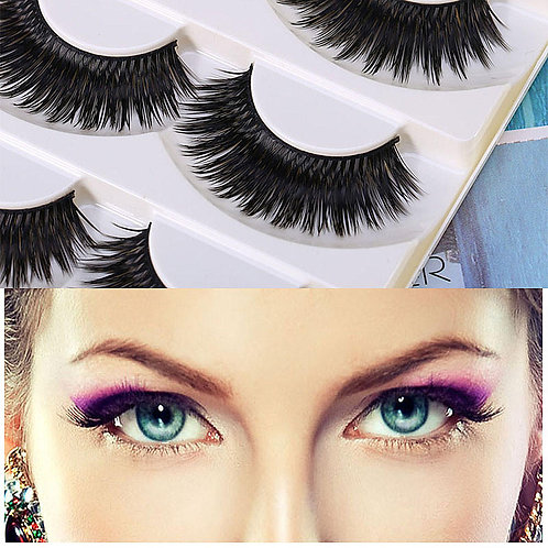 2 Pairs Soft women Thick Eyelashes