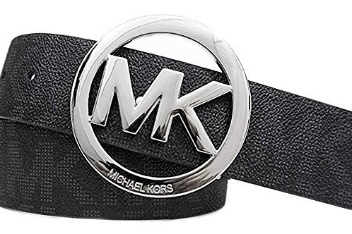 Michael Kors Mk Signature Monogram Logo Buckle and Belt