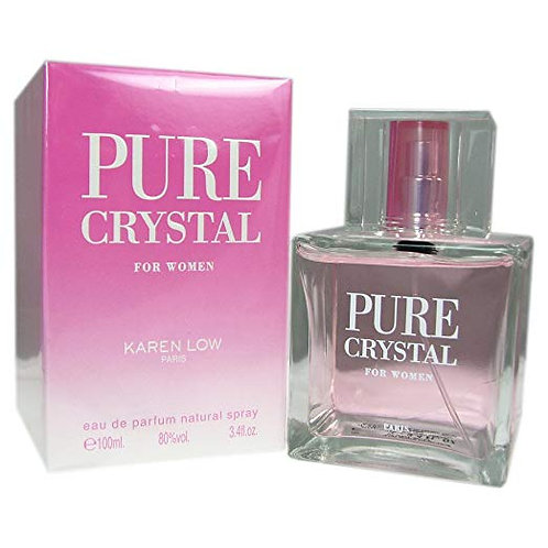 Karen Low Pure Crystal Eau de Parfum Spray for Women, 3.4 Ounce  by Karen Low