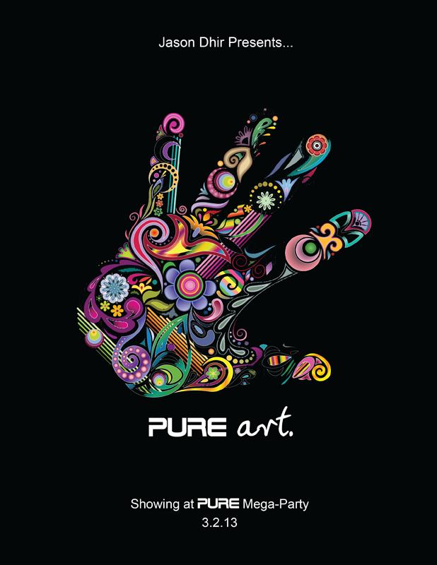 pure art show flyer
