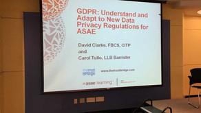 ASAE GDPR Forum, Washington DC