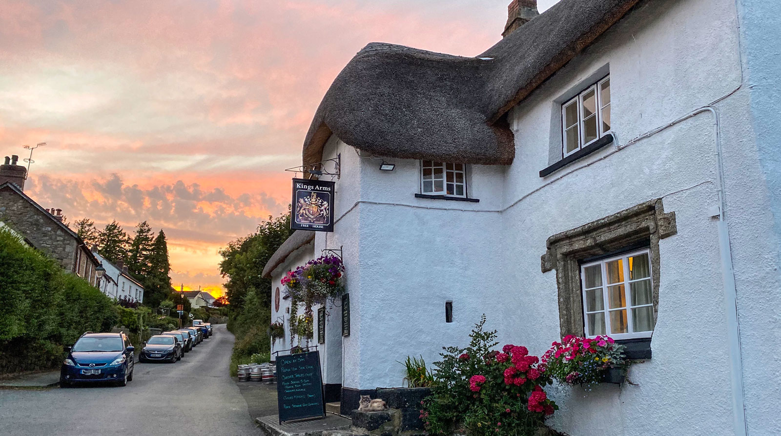 The King's Arms, our lovely friendly local serving good pub food.