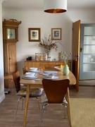 Breakfast is taken in the dining room.