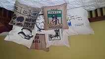 Burlap & Dacron Cushions