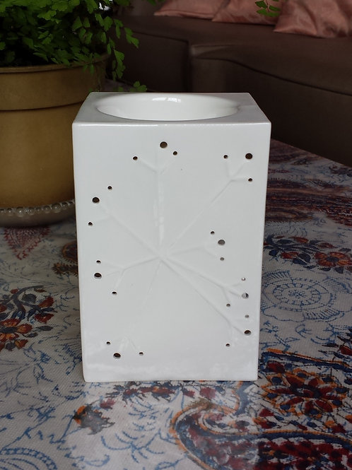 Tealight Oil Burner, Translucent Rec Star
