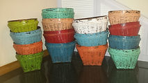 Bamboo Baskets Antique finished
