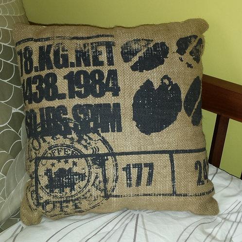 Burlap Cushion - Coffee Bean Bag