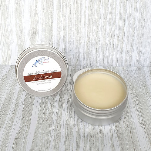 Bliss! Natural Deodorant Cream - Sandalwood
