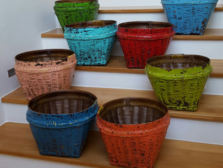 Love these Antique-looking Bamboo Baskets